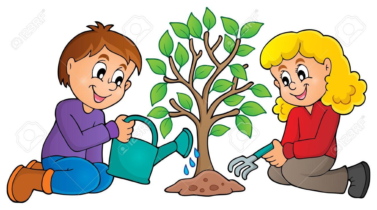1300x727 Garden Clipart Tree Plantation