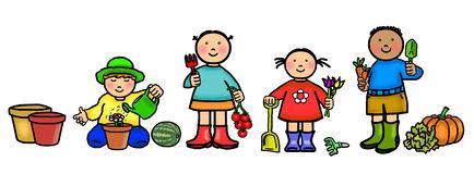 434x160 Kids Garden Tools Clipart