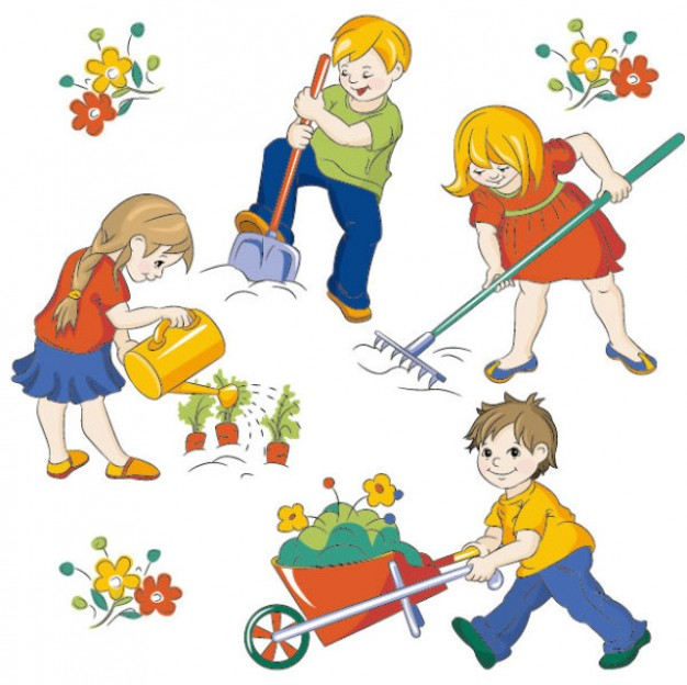 626x624 Photokids Working In Garden 34