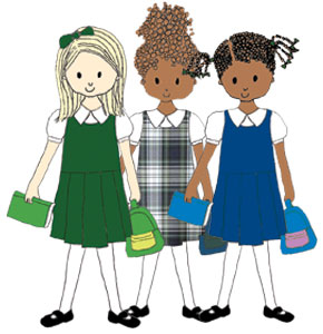 290x300 Get Dressed School Uniform Clipart