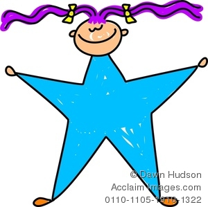 300x299 Image Of A Happy Little Girl Dressed Up As A Blue Star