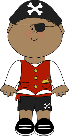 282x550 Pirate Kid Clip Art