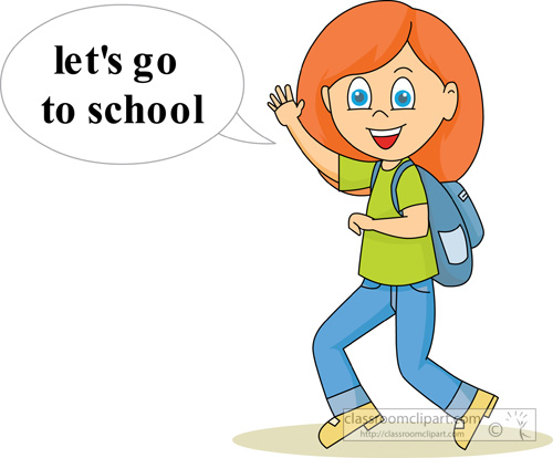 500x414 Going To School Clipart
