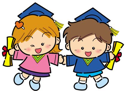 Graduation kindergarten. Kids clipart free download