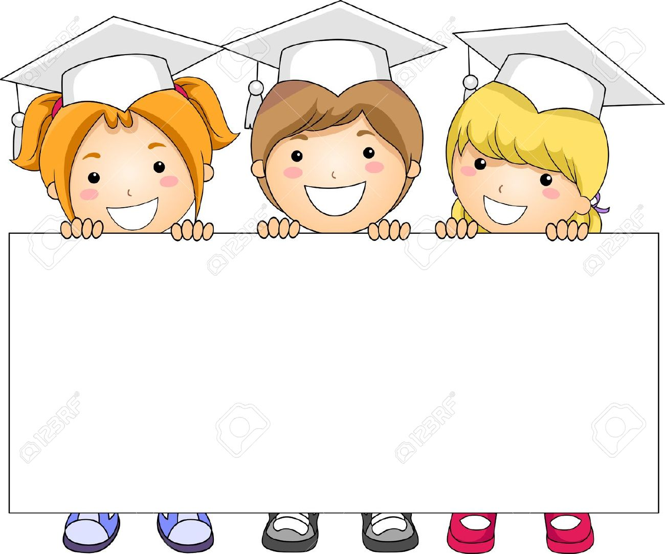 1300x1083 9209614 Illustration Of Kids Holding A Banner Stock Illustration