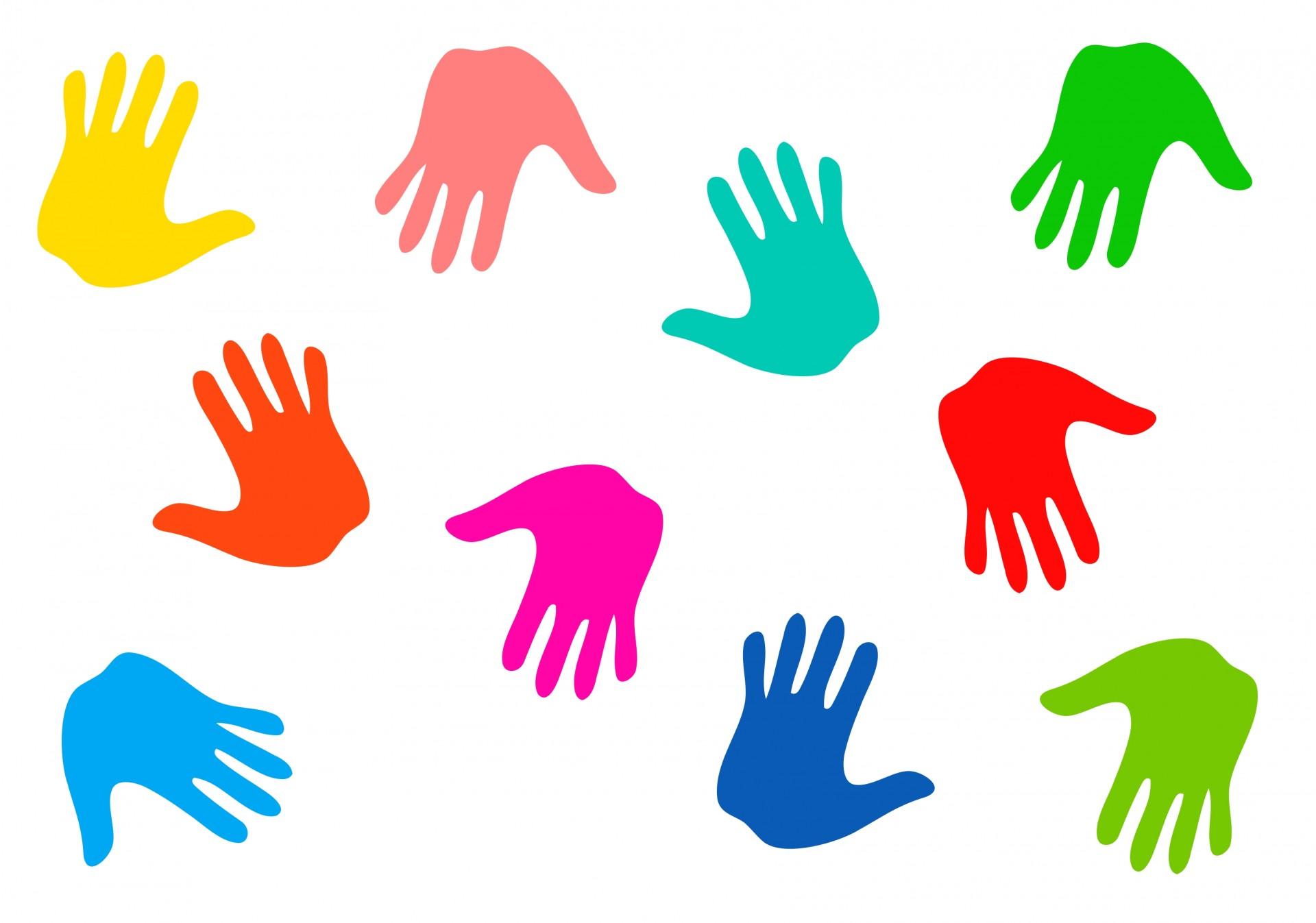 1920x1347 Colourful Handprints Free Stock Photo