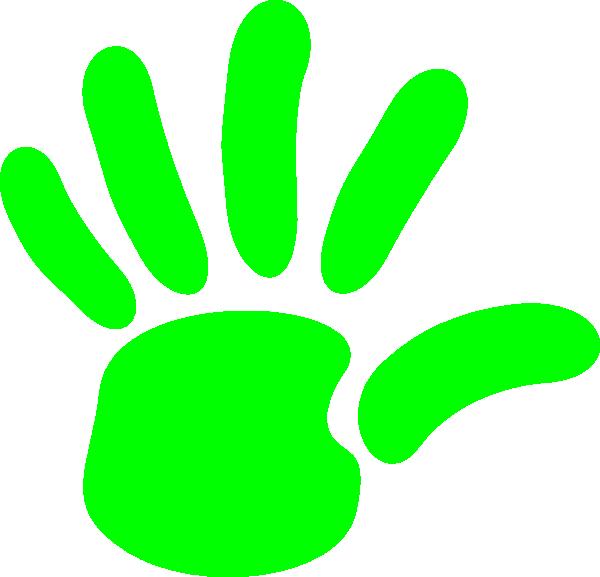 600x577 Green Hand Print Clip Art