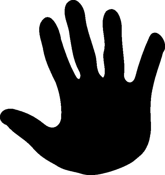 564x597 Handprint Clipart Black And White