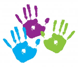 300x257 Handprint Clipart Hand Painting