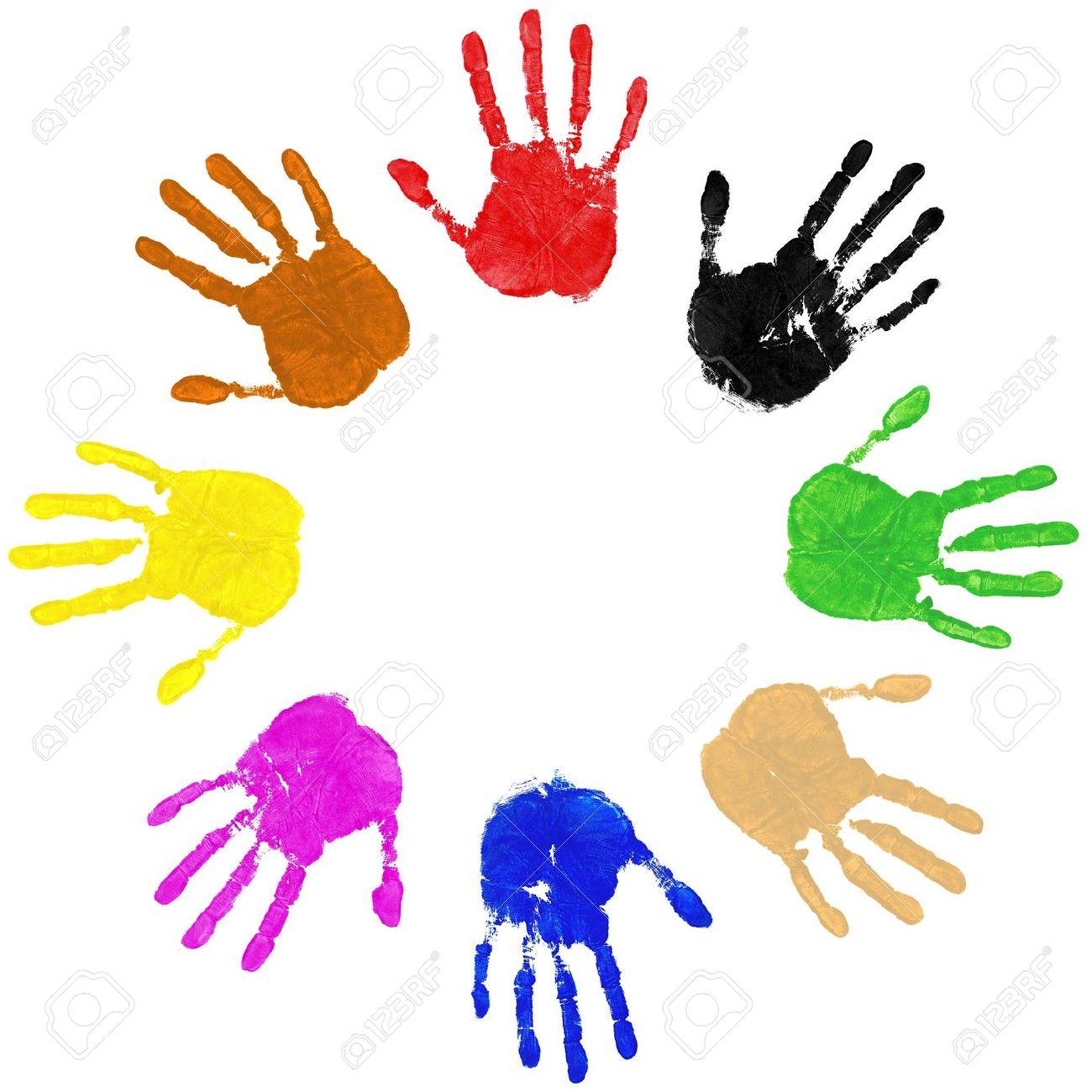 1300x1300 Handprint Clipart Paint Hand