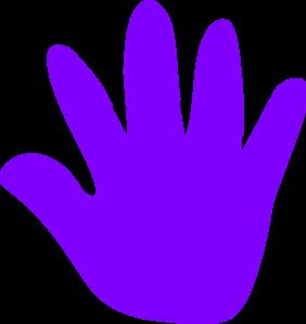 282x299 Handprint Clipart Purple