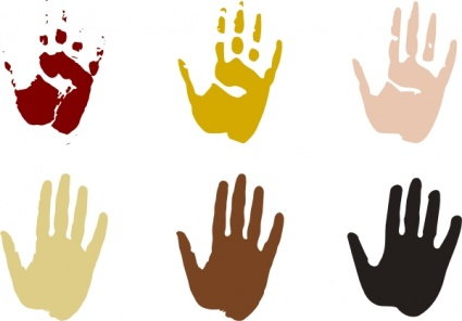 425x296 Right Hand Print Clip Art Vector, Free Vector Images