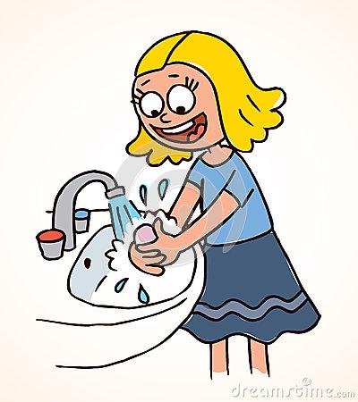 400x450 Kids Hand Washing Clipart