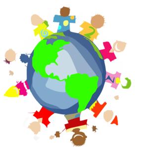 293x297 Kids World Hands Friends Networks Globe Illustration Small Clip