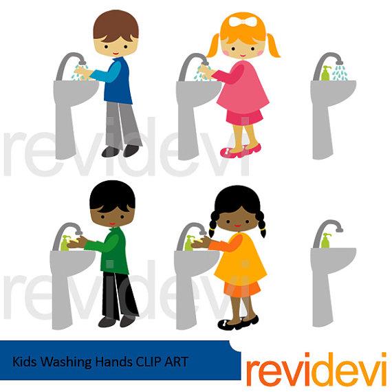 570x570 Kids Washing Hands Clipart Boys Girls Wash Hands Clip Art