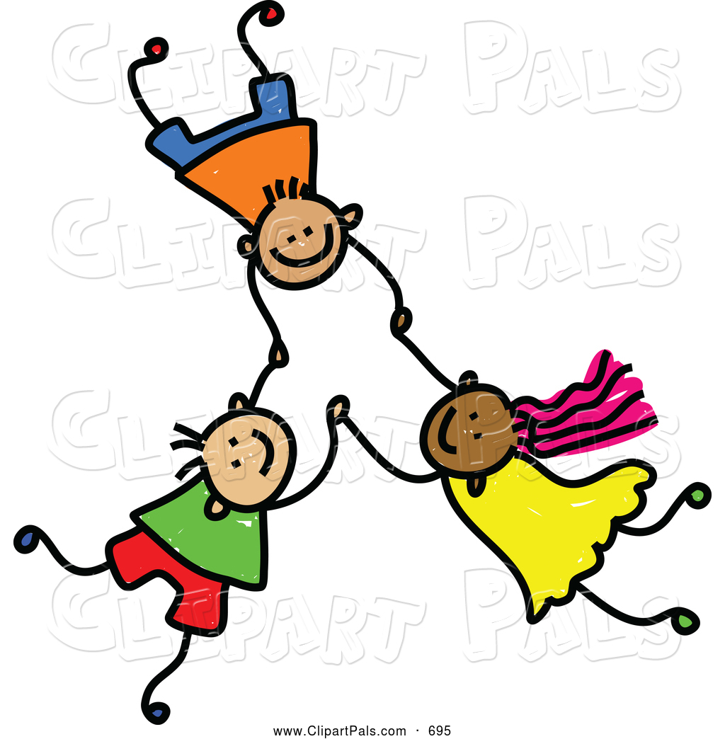 1024x1044 Pal Clipart Of A Childs Sketch Of 3 Kids Holding Hands While