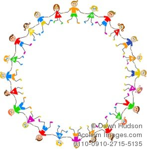 295x300 Illustration Of A Group Of Caucasian Children Holding Hands