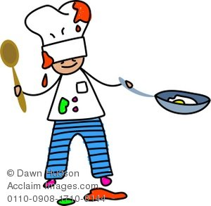 Kids In The Kitchen Clipart