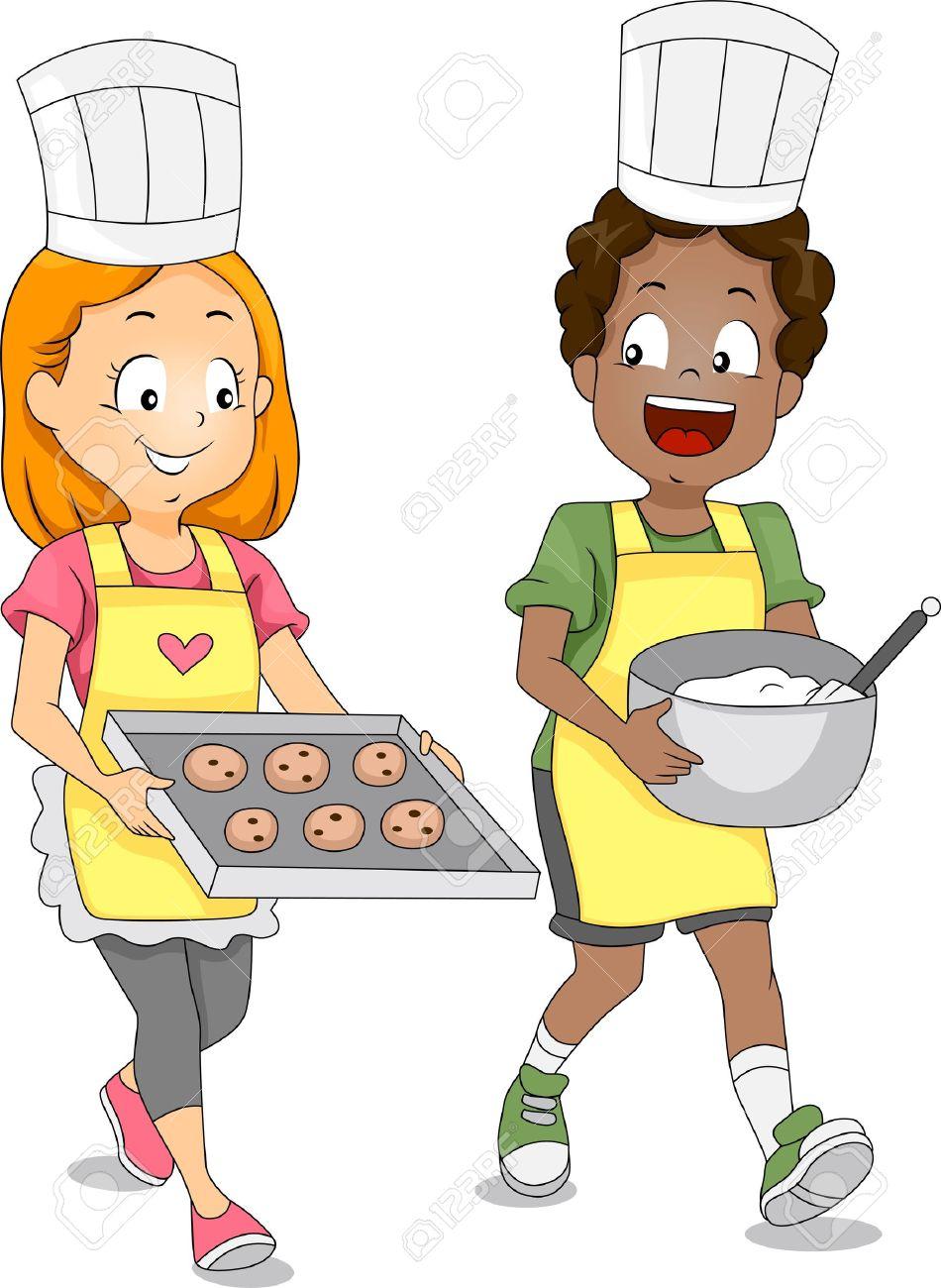 950x1300 The Kitchen Clipart Child Baking
