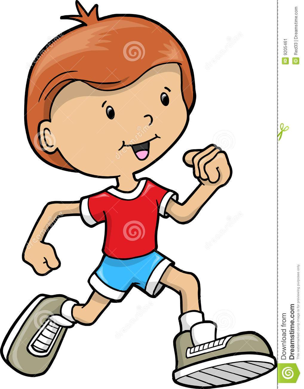 Kids Jogging Clipart