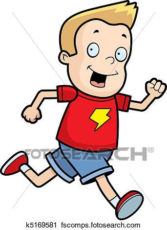 342x470 Clipart Of Boy Running K5169581