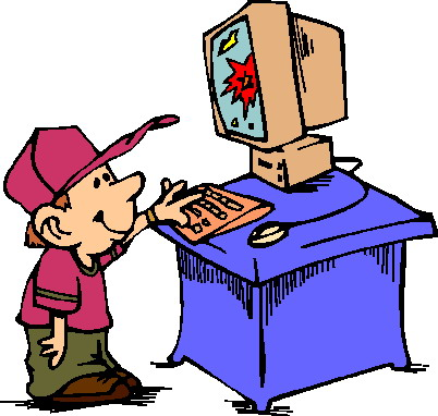 402x382 Playing Games On Computer Clipart