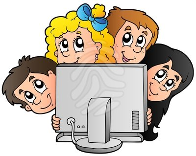400x319 At Computers Clipart