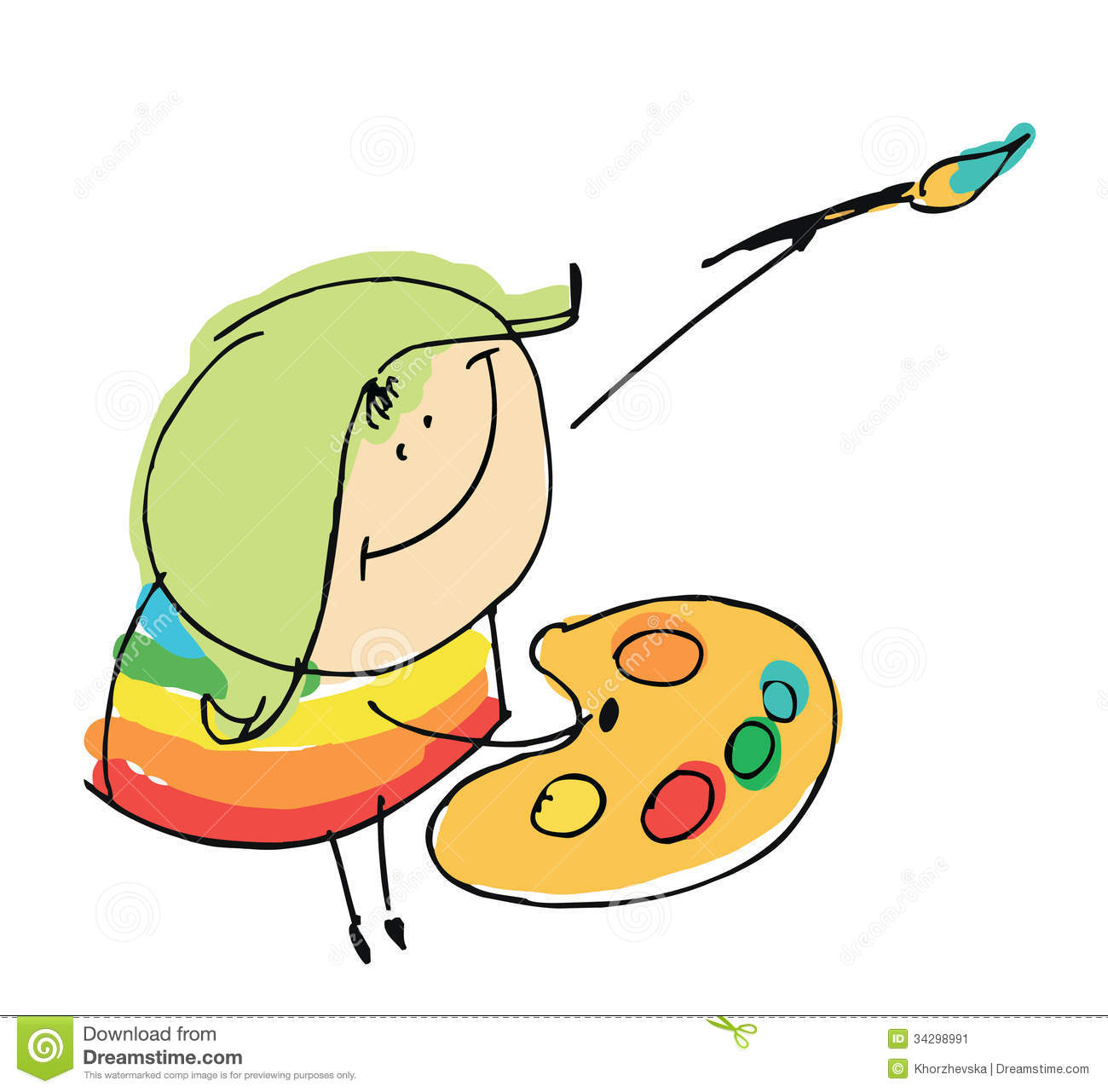Kids Painting Clipart Free download best Kids Painting Clipart on