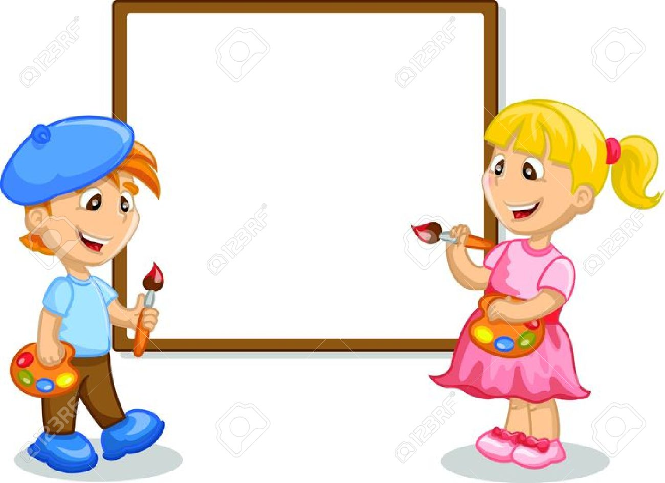 Kids Painting Clipart | Free download best Kids Painting Clipart on ...