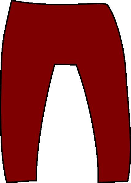 426x592 Maroon Pants Clip Art