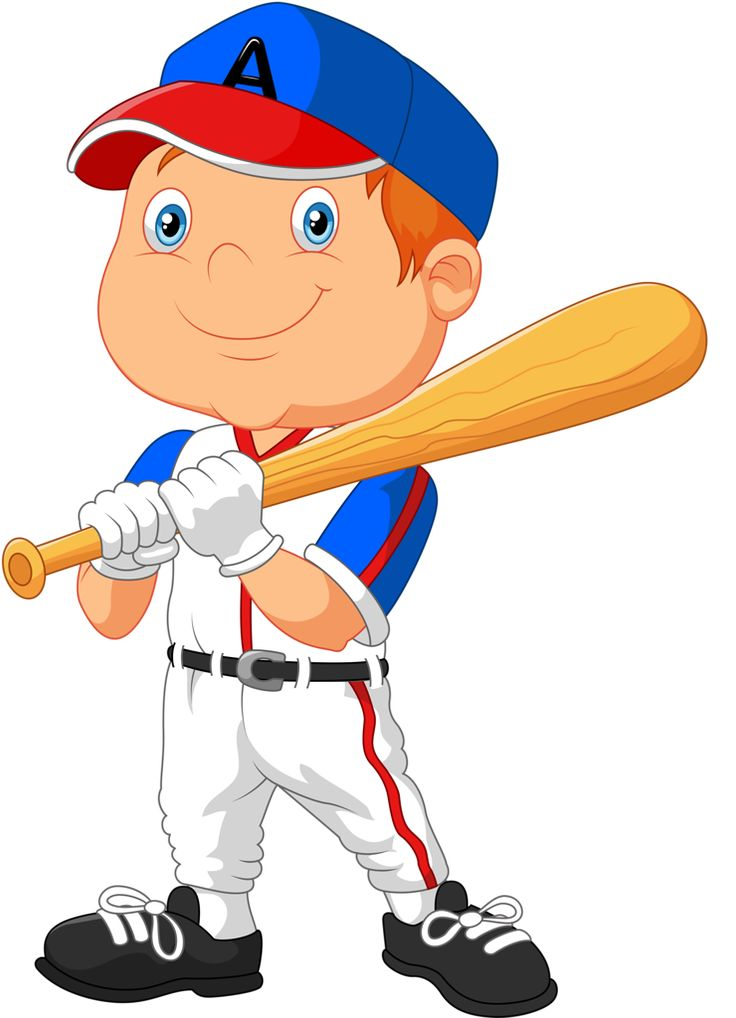 Kids Playing Baseball Clipart