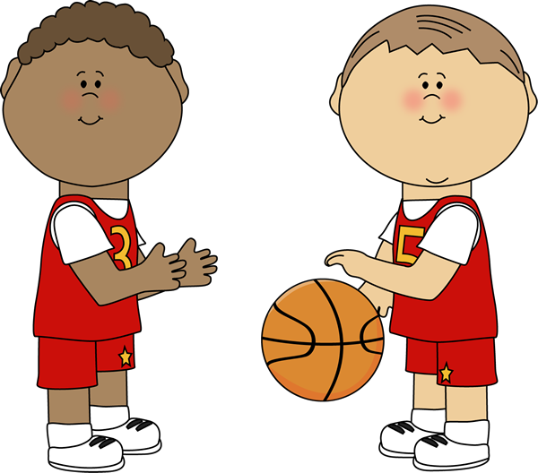 600x528 Boys Playing Basketball Clip Art