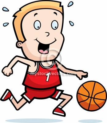 348x400 Child Clipart Basketball