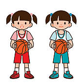 170x170 Kids Playing Basketball Stock Illustrations