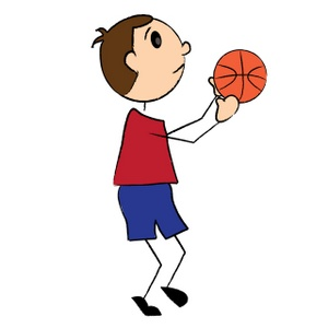 300x300 Shooting Basketball Clipart