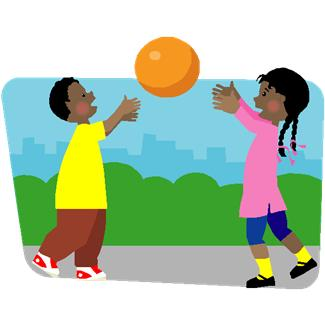 325x325 Kids Playing Outside Clip Art Clipart