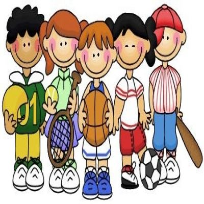 400x400 Kids Playing Sports Clipart