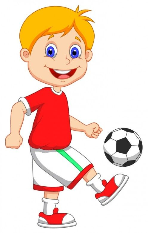 Kids Playing Football Clipart