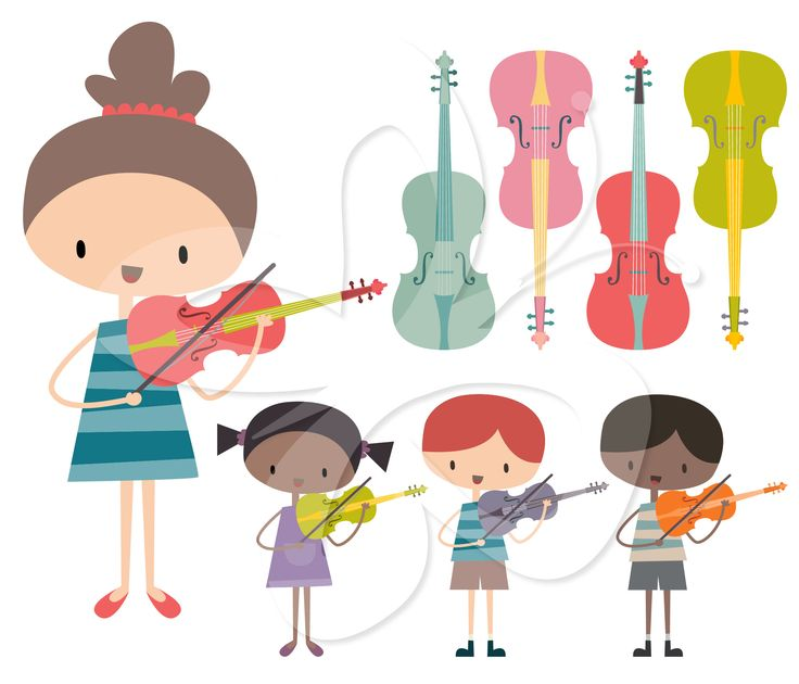Kids Playing Music Clipart