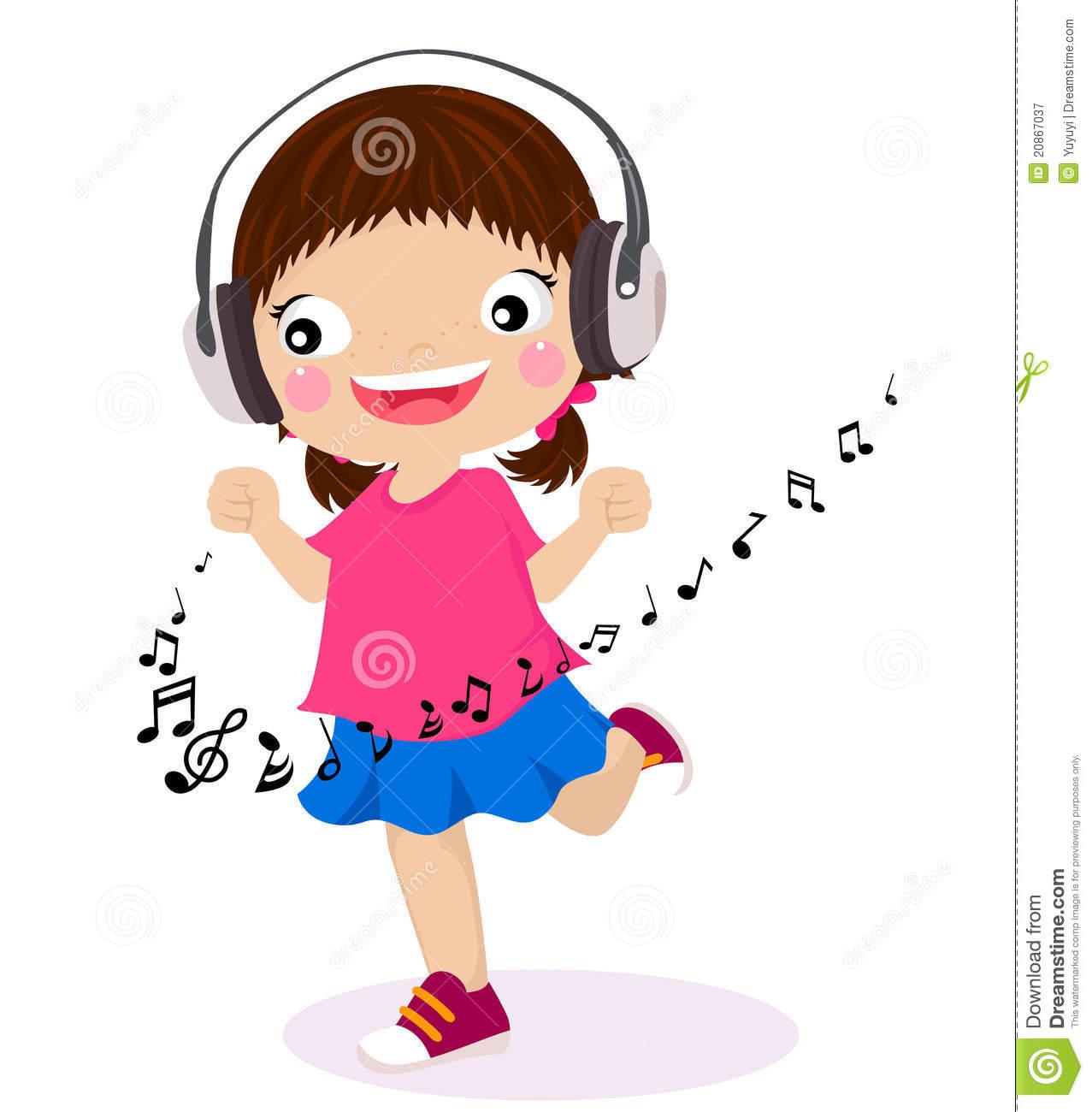 1277x1300 Children Listening To Music Clip Art