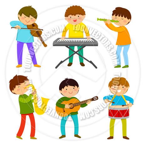 460x460 Kids Playing Music By Ayelet Keshet Toon Vectors Eps
