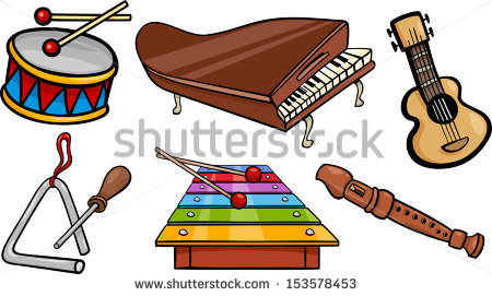 450x271 Kids Playing Music Clipart Stock Vector Cartoon Illustration