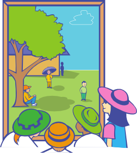 270x300 Kids Looking Out Window Clip Art