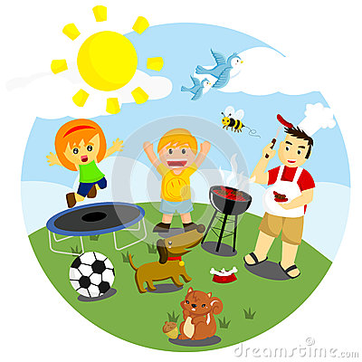 400x400 Sunny Clipart Outside