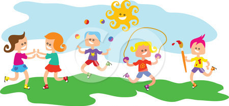 450x209 Kids Playing Outside Clip Art Clipart