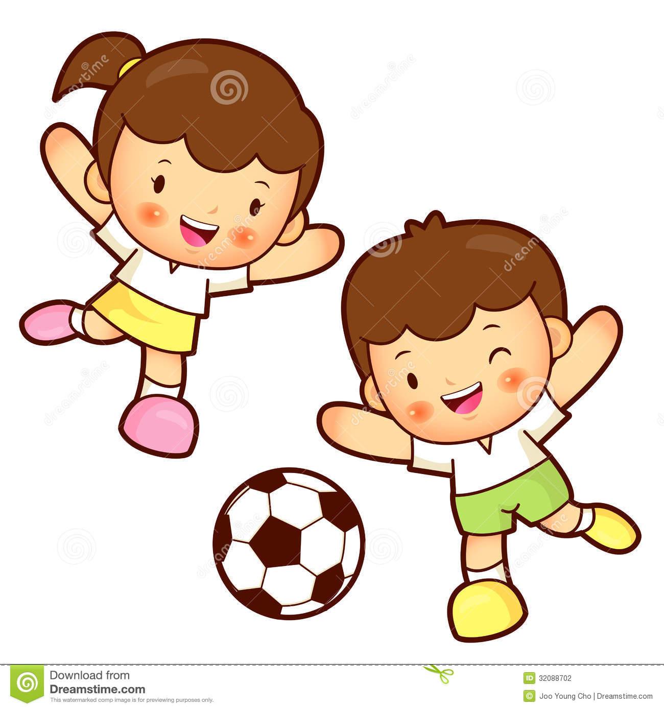 1300x1390 Children Playing Football