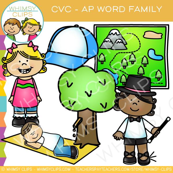 600x600 Cvc Ap Word Family Clip Art {Volume One} , Images Amp Illustrations