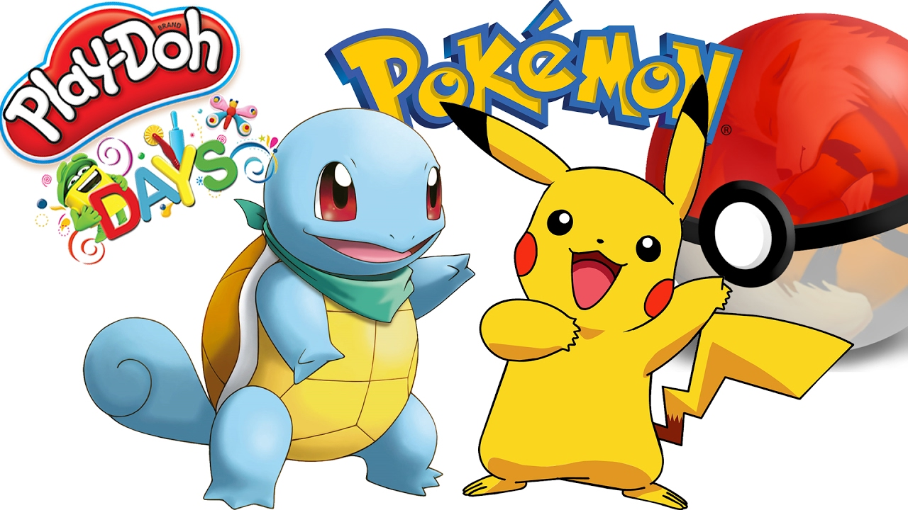 1280x720 Kids Playing With Play Doh, Surprise Games New Pokemon Toys