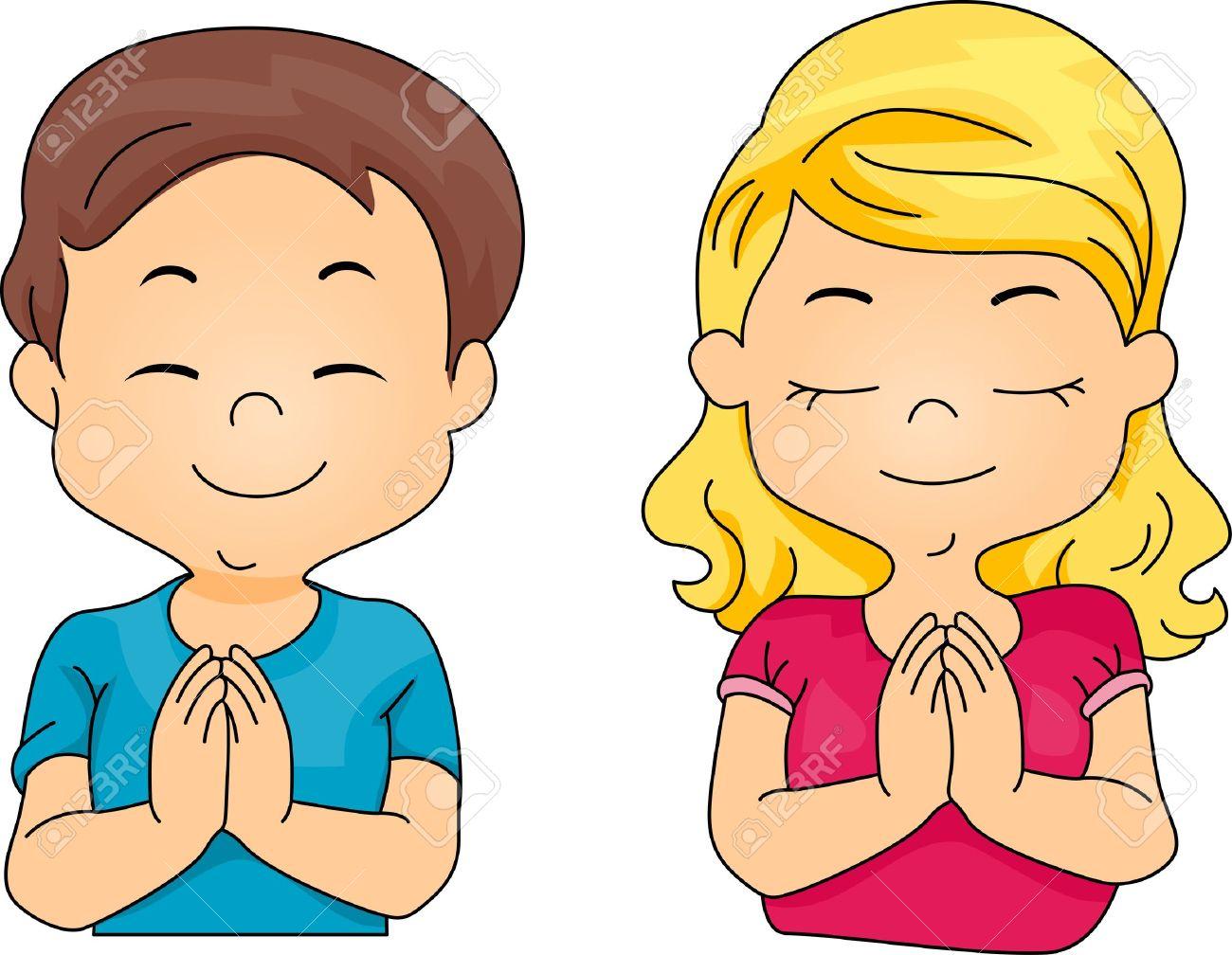 kids praying clipart