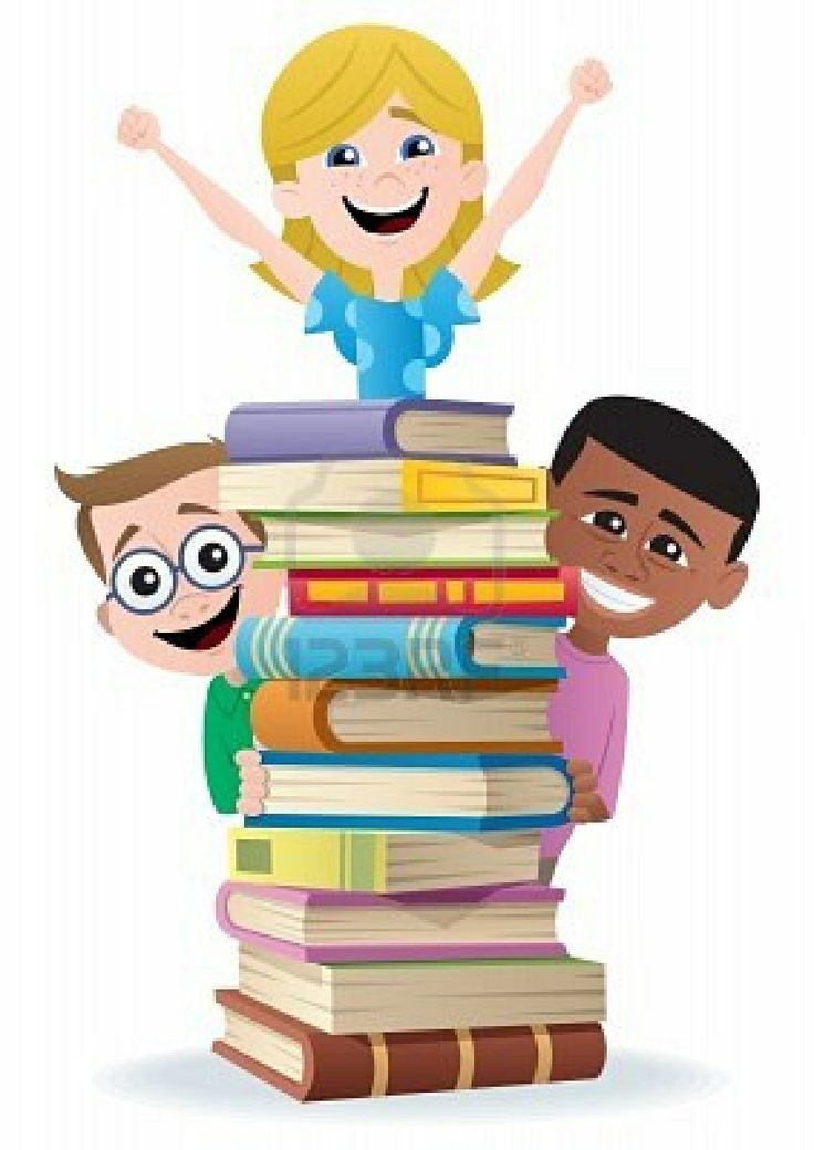 Kids Reading Book Clipart